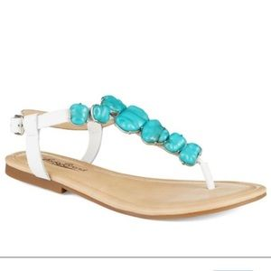 Lucky Brand Turquoise Sandals